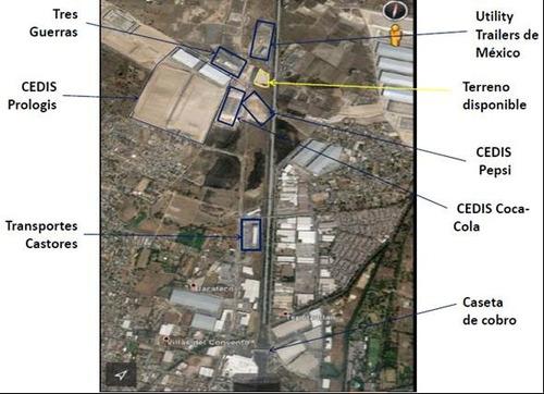 magnífico terreno industrial en renta, carr. méxico-qro.
