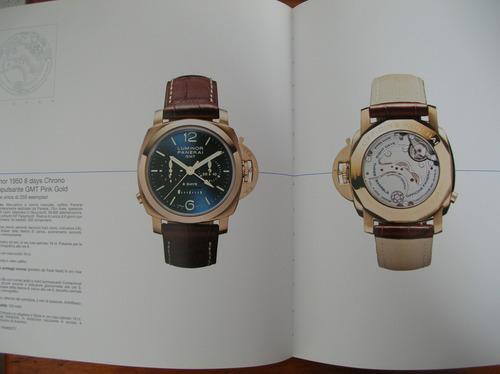 magnifico y unico catalogo de relojes marca panerai