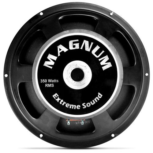magnum 12 polegadas 350w rms cone seco bobina simples