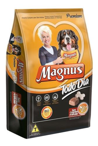 magnus premium todo dia cães adultos 25 kg + brinde