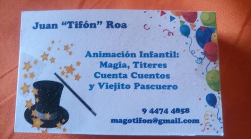 mago tifon, títeres animación cumpleaños infantiles