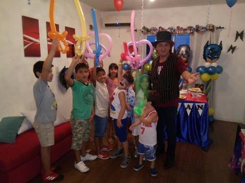 magos,payasos,globologia,spiderman,animacion para fiestas