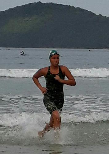 maiô macaquinho feminino natação e hidroginástica hidromania