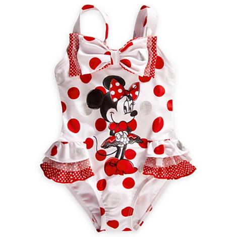 Maiô Minie Mouse Disney Babados Branco E Vermelho Tam 4 ...