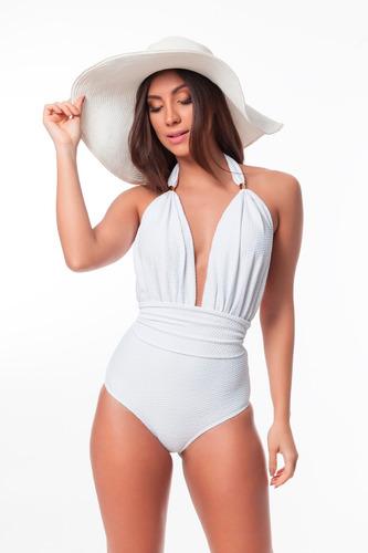 maiô resort texturizado conforto decote profundo verão 2020