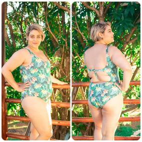 9b74b1922e30 Maiô Com Saia Plus Size Mulher - Moda Praia com o Melhores Preços no Mercado  Livre Brasil