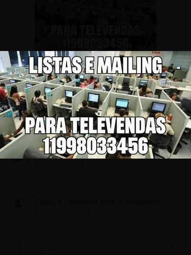 mailing listas e material de prospecção