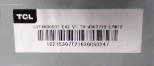 main tcl 48 modelo l48d2730a