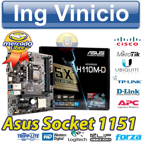 mainboard asus micro atx h110m-d  s1151 7ma, ddr4, video vga