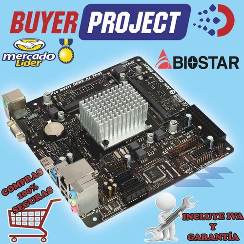 mainboard biostar j3060nh + celeron 2.48ghz, ddr3l, vga hd