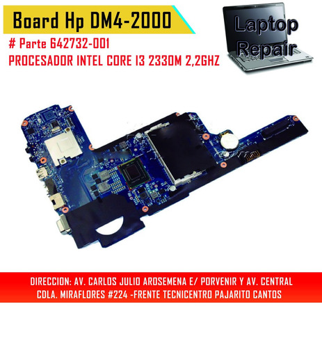 mainboard hp dm4-2000 #642732-001 - laptop repair