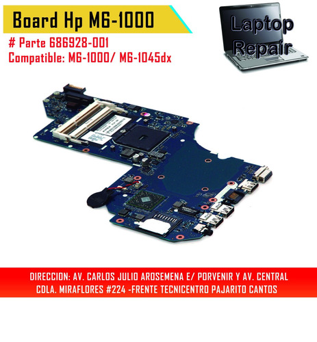 mainboard hp m6-1000 # 686928-001 - laptop repair