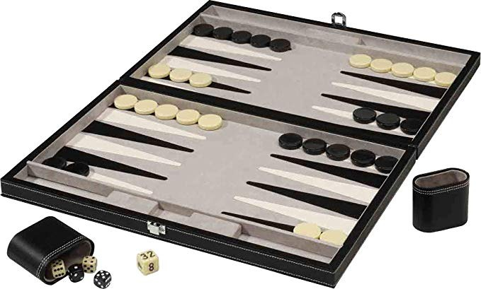 Mainstreet Clasicos De 18 Pulgadas Juego De Mesa Backgammon