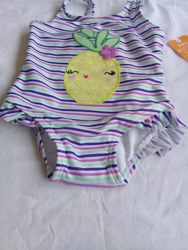 maio infantil moda praia listrado abacaxi bebê proteção uva