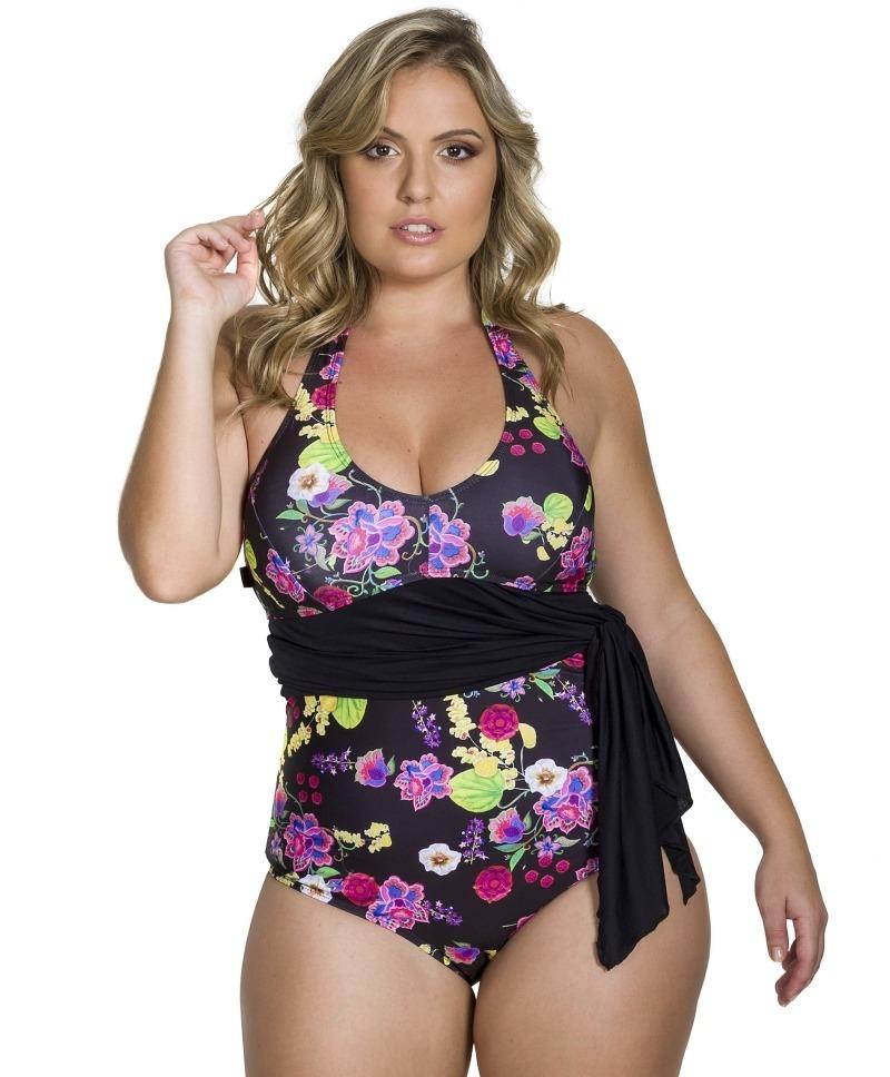 a03c175c1fc4 Maio Plus Size Com Saída De Praia Moda Praia Feminina - R$ 134,90 em ...