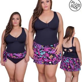 1b5af5e93ca8 Maio Drapeado Plus Size Mulher - Moda Praia no Mercado Livre Brasil