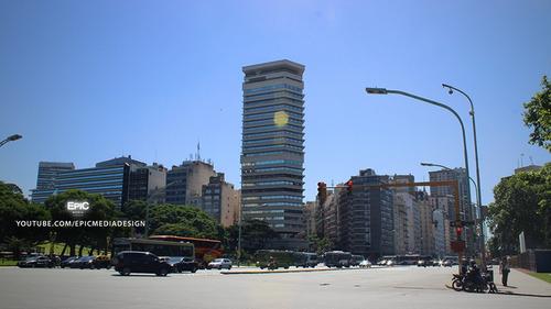 maipu 1300 edificio pirelli, venta con renta oficina 432 m²