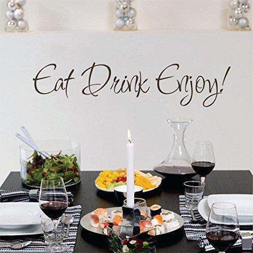 Mairgwall Eat Drink Enjoy Vinilo Decorativo Vinilo Comedor ...