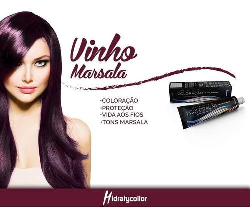 mairibel kit marsala 2 tinta + 1 matizador + 1 ox 30 vol
