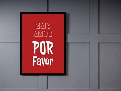 Mais Amor Por Favor Quadro Frases R 8990 Em Mercado Livre