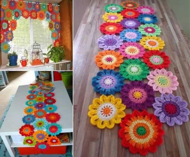 Mais De 50 Lindos Gráficos De Flores De Crochê R 120 Em Mercado