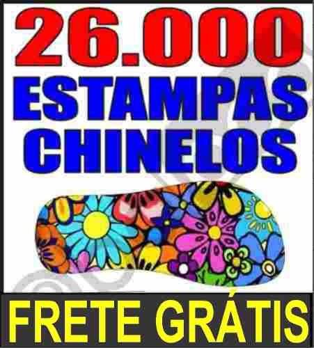 a6aa422b1 Mais De 5000 Pares De Estampas Para Chinelos + Frete Grátis - R ...