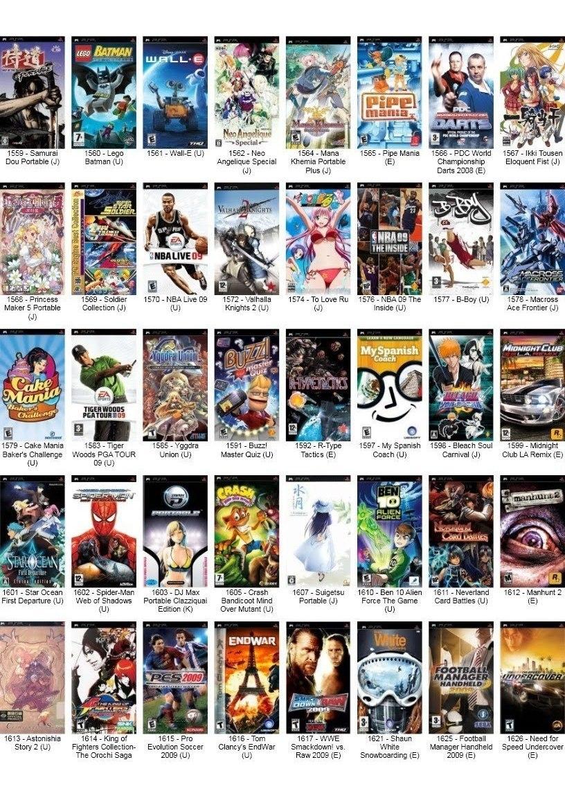 Mais De 560 Jogos Psp Em Formato Iso /cso