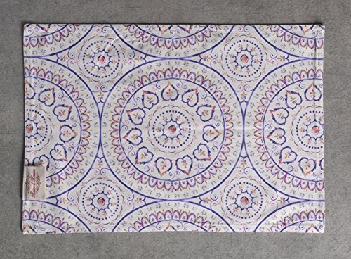 Maison d Hermine Mandala 100/% Cotton Set of 4 Placemats 13 Inch by 19 Inch