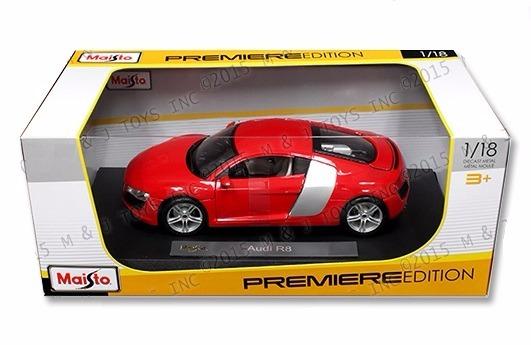 Audi r8 rojo 1:18 maisto
