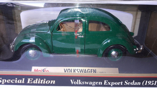 maisto 1951 volkswagen split window 1:18 verde $ 750.00