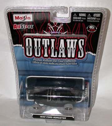 maisto outlaws 1932 ford chase/t hunt (lacrado, raro)