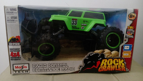 maisto r/c rock crawler  auto control remoto niños