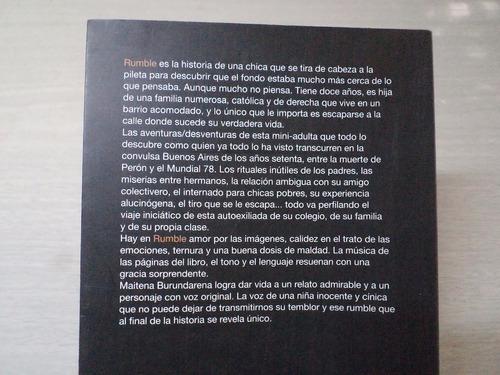 maitena burundarena - rumble (1° ed.2011)