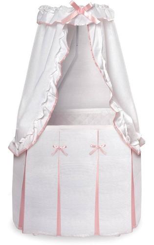 majestad de tejón cesta bebé moisés con dosel blanco y