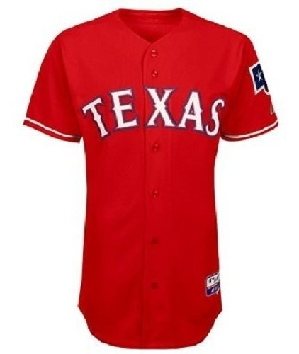 new styles 07ac3 ba33e Majestic Texas Rangers Authentic Cool Base Alternate Jersey