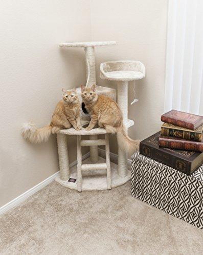 majestuoso para mascotas productos 48 pulgadas beige casita