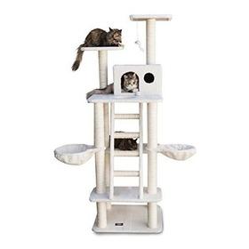 Majestuoso Para Mascotas Productos 72 Pulgadas Beige Casita