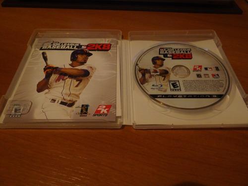 major league baseball 2k8 ps3 como nuevo!!!