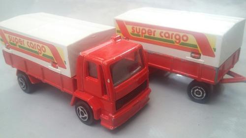 majorette ford super cargo con trailer