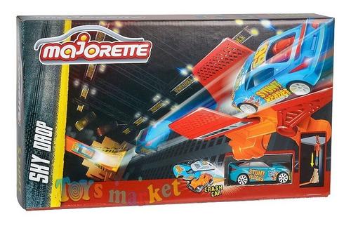 majorette pista de autos car crash stunt heroes sky drop tv