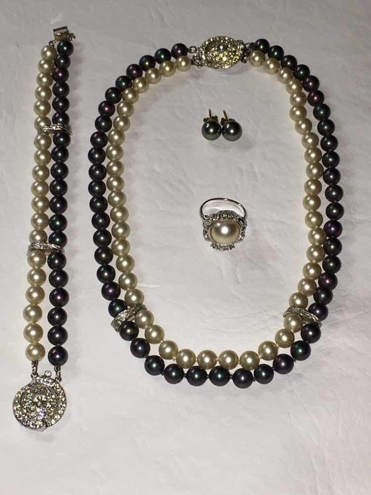 c5229b7654a6 majorica perlas conjunto collar pulsera aros anillo único. Cargando zoom.