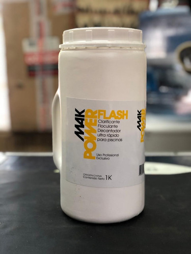 mak powerflash clarific/floculante rapido para pileta x 1kg