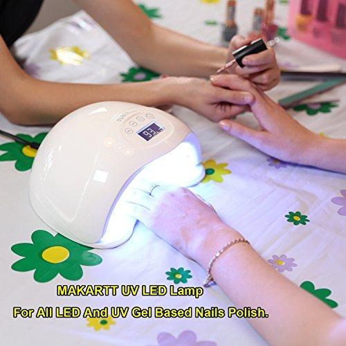 4a8672e2dcef4 Makartt Nail Dryer 48w Led Lámpara De Curado De Uñas Prof ...