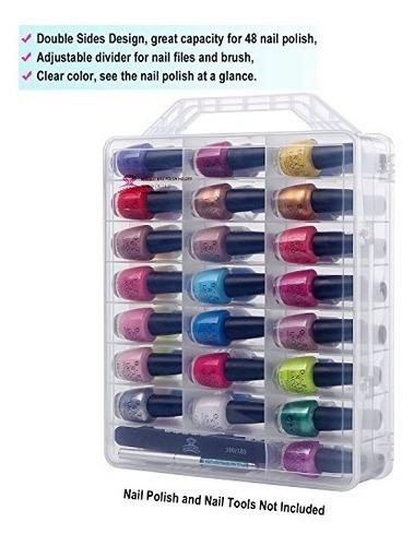 makartt universal de barniz de uñas transparente organizado