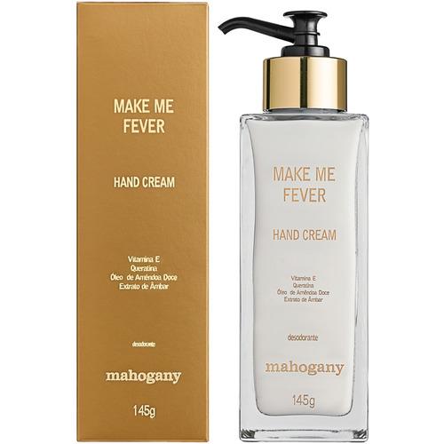 make me fever gold creme hidratante para mãos mahogany, 145g