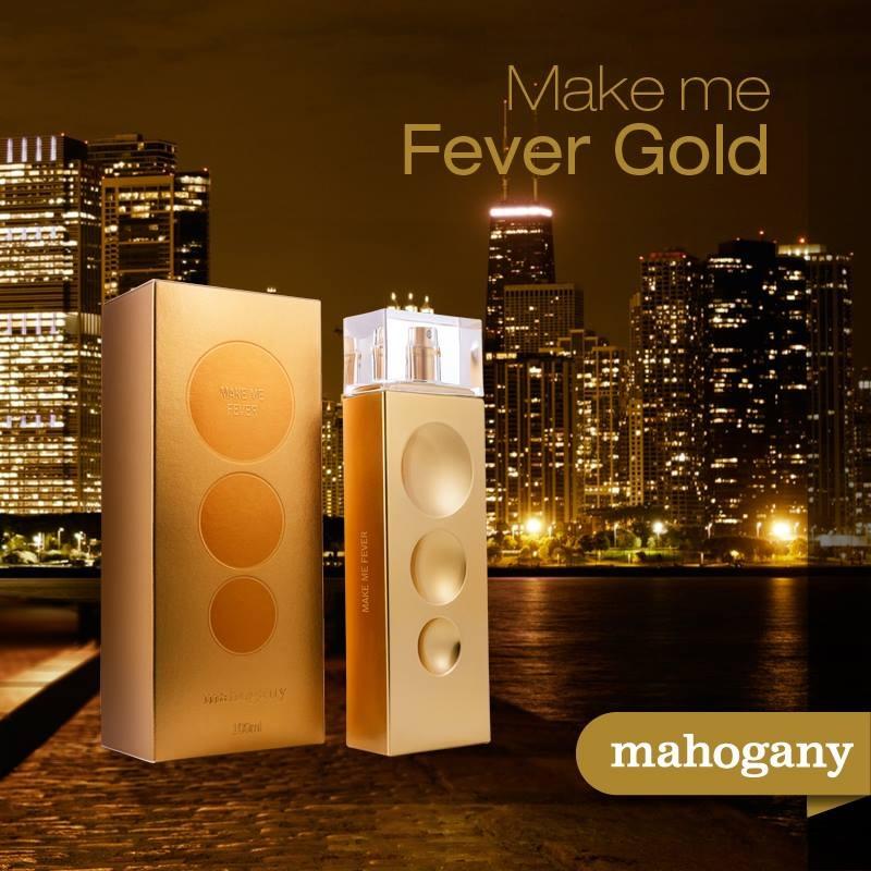 Make Me Fever Gold Perfume Mahogany + Caixa Gold Presente