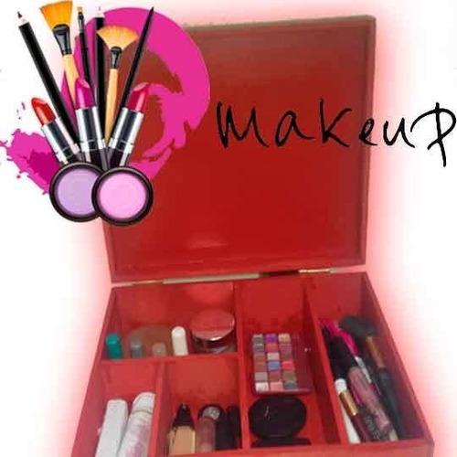 make up caja de maquillaje con divisiones (3 divisiones)