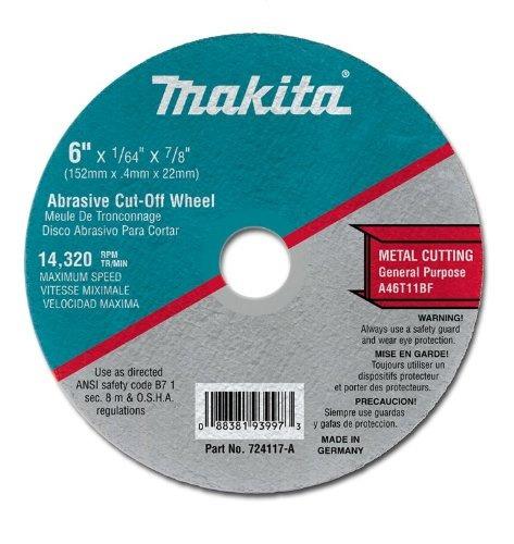 makita  a-25 6-pulgadas de acero de corte de rueda, 25-pack