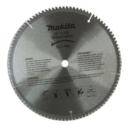 makita d-19065 disco p/aluminio 10''100 dientes envio gratis