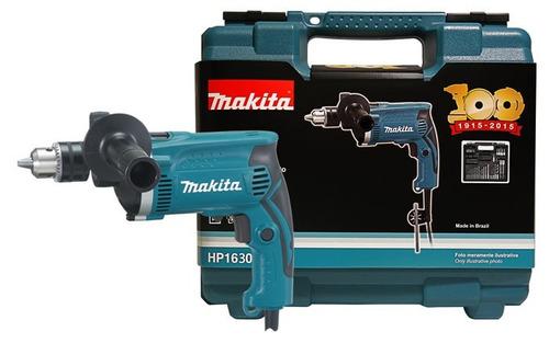 makita furadeira impacto hp1630x100 maleta (220v)